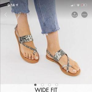 ASOS Snakeskin Sandals